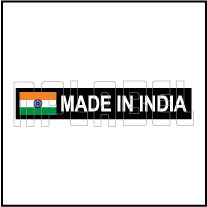 160072ML MADE IN INDIA Signs Metal Stickers