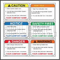 160087 Customize Caution Warning Labels