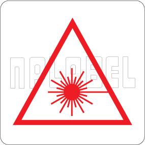 160094 Laser Sign Warning Labels