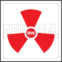 160096 Microwave Radiation Warning Labels