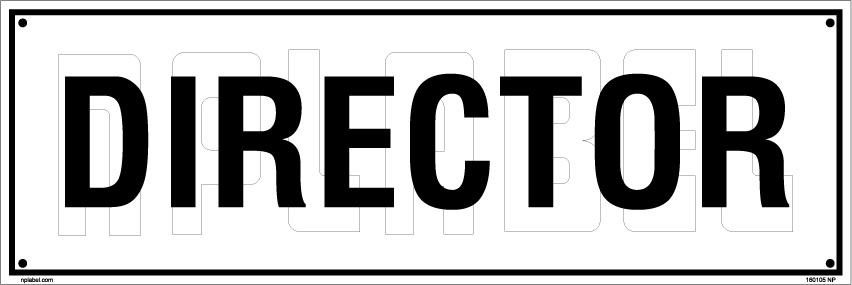 160105 Director Name Sticker