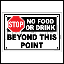 160116 STOP No Food or Drinks Sign Name Plate