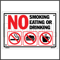 160117 Smoking,Eating & Drinking Sign Name Plates