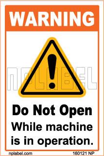 160121 Do Not Open Sign Sticker & Labels