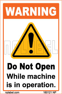 160121ML Do Not Open Sign Metal Labels