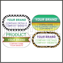 160133_37 Oblong Dome Labels