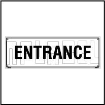 160170 Entrance Name Plate