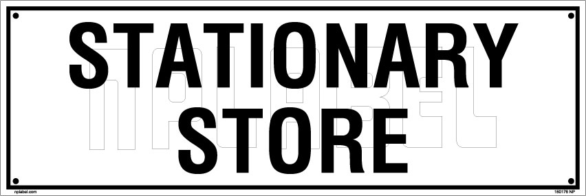 160176 Stationary Store Name Plate