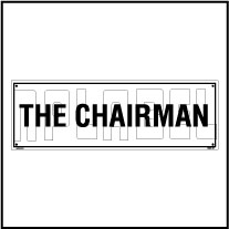 160181 The Chairman Name Plate