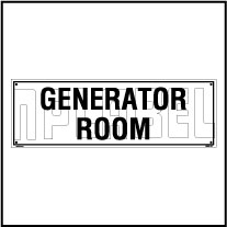 160185 Generator Room Name Plate