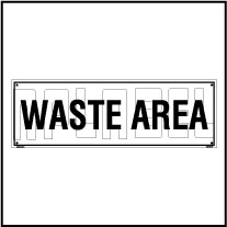 160190 Waste Area Plate