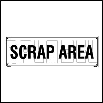 160191ML Scrap Area Name Plate