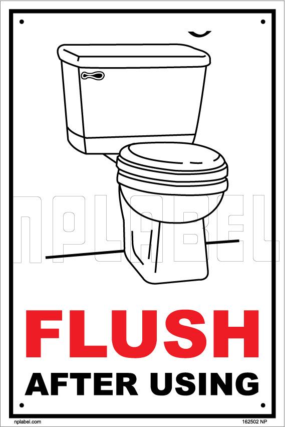 162502 Flush Toilets Labels & Signs