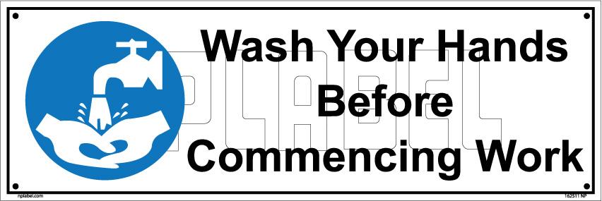 162511 Wash Hand Sign Labels