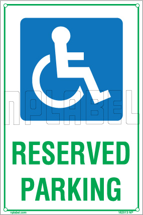 162513 Disable Parking Sign Name Plate