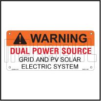 162518ML Customize Dual Power Supply Warning Metal Labels
