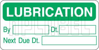162534 Lubrication reminder & service labels