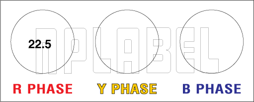 162557 Electrical Phase Indication Legend Plate