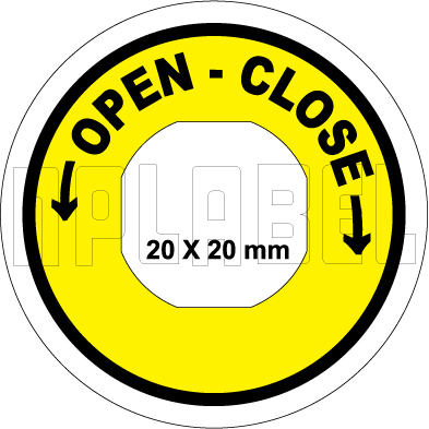 162558OC - Open Close Control Arrow Label