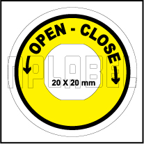 162558OC - Open Close Control Arrow Label