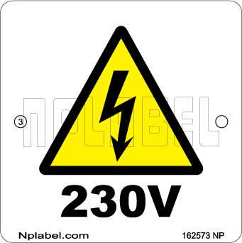 162573 Voltage Indication Metal Labels