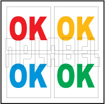 162576 OK Sticker