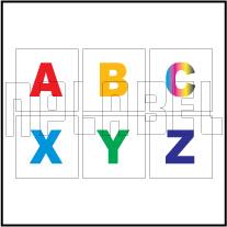 162579  Alphabet A to Z Sticker SET