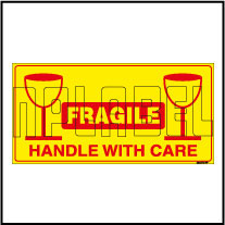 220372 Fragile - Handle With Care Sticker Label