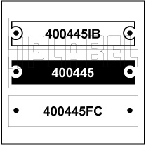 400445 - Control Panel Labels Size 50 x 12mm