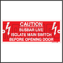 411171 Busbar Live Caution Labels