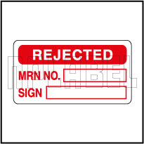420005 Rejected Quality control stickers
