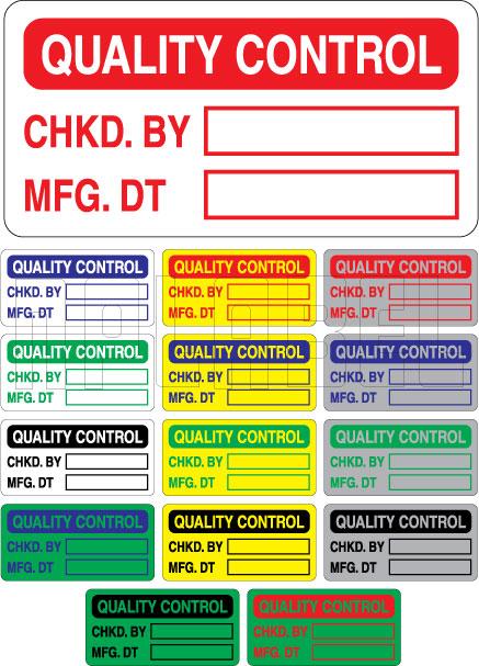 420010 Quality Control - QC Sticker