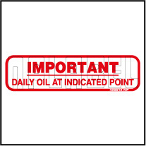 420012 Daily Oil At Indication point Sticker