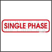 420016 Single Phase Indication Sticker