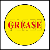 420040 Grease Sticker Label
