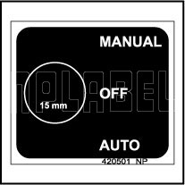 420501 MANUAL-AUTO-OFF Selector Switch Label
