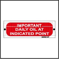420502V Daily Oil At Indicated Point Stickers