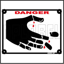 420503 Danger - Protect Your Hand Labels