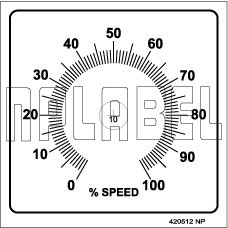 420512 Speed % Pot Labels