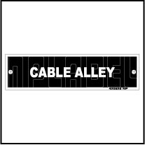 420525ML Cable Alley Panel Metal Labels