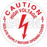 430582 Caution - High Voltage Stickers