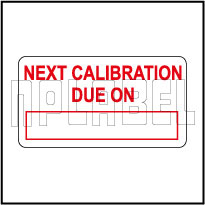 530552 Sticker - Next Calibration Due on