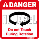 570566 Danger Do Not Touch - Caution Stickers
