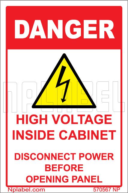 570567 Danger - High Voltage Sign  Sticker