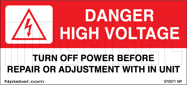 570571 Danger Turn Off Power Warning Sign Stickers