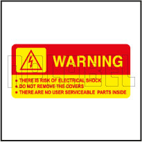 570574ML Risk of Electric Shock Warning Signs Labels