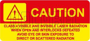 570575 Warning - Class 4 Laser Radiation Stickers