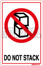 580944 Do Not Stack Instruction Stickers & Labels