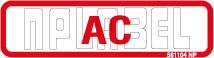 581104 AC Label