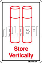 582111 Store Vertically Instructions Labels & Sign
